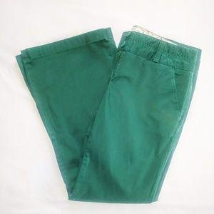 LAND'S END Green Pants Wms 8